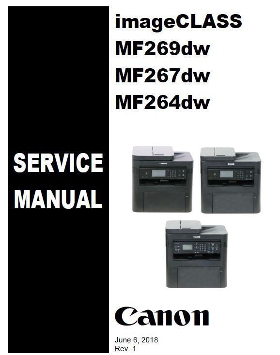 Canon imageCLASS MF264dw/MF267dw/MF269dw Service Manual