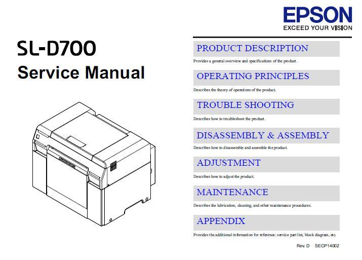 Epson SL-D700 Service Manual