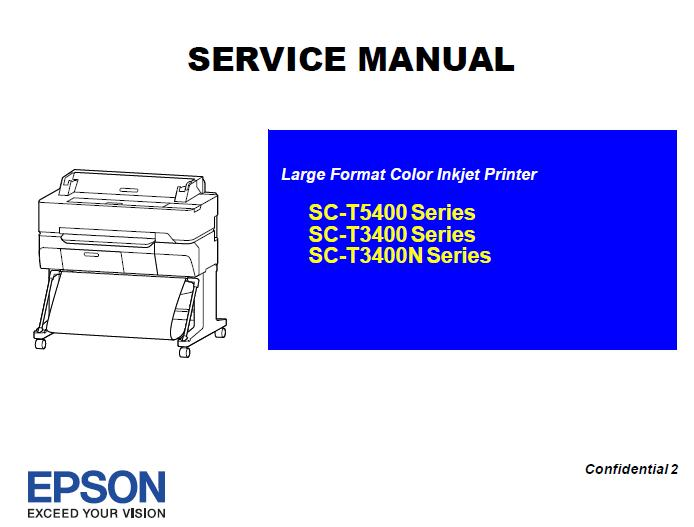 Epson SC-T3400/SC-T3400N/SC-T5400 Series Service Manual