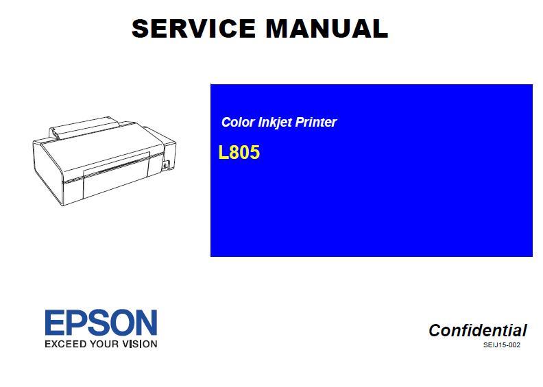 Epson L805 Service Manual