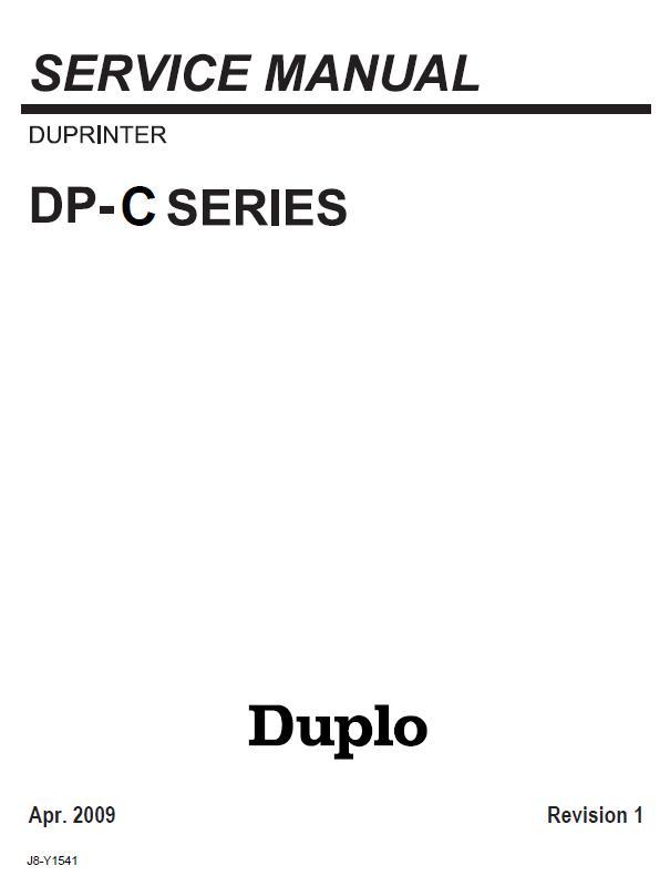 Duplo Duprinter DP-C100/DP-C105/DP-C110/DP-C115/DP-C120/DP-C125