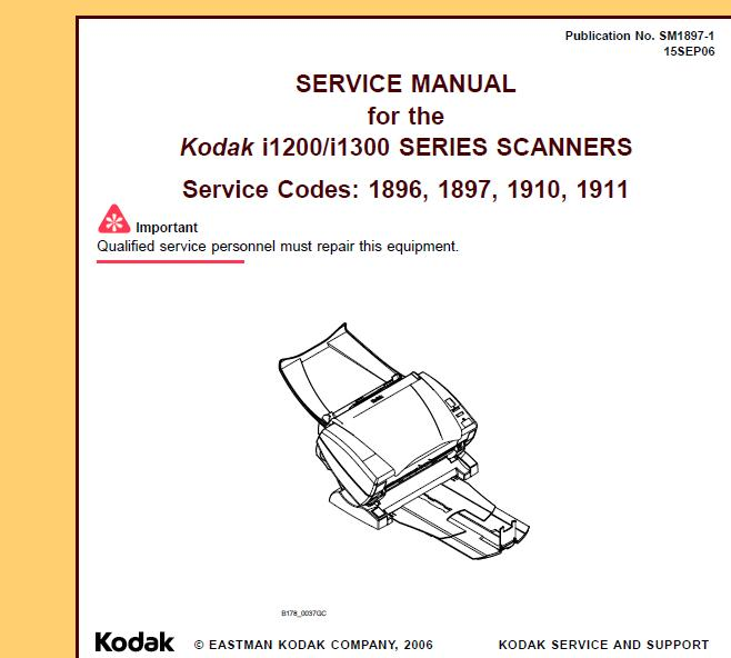Kodak i1200/i1300 Service Manual
