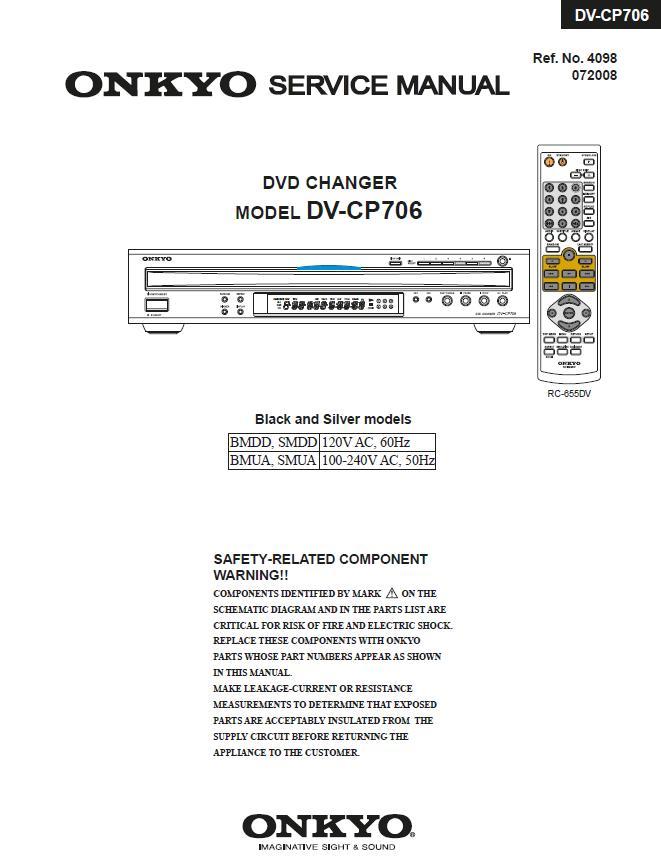 Onkyo DV-CP706 Service Manual