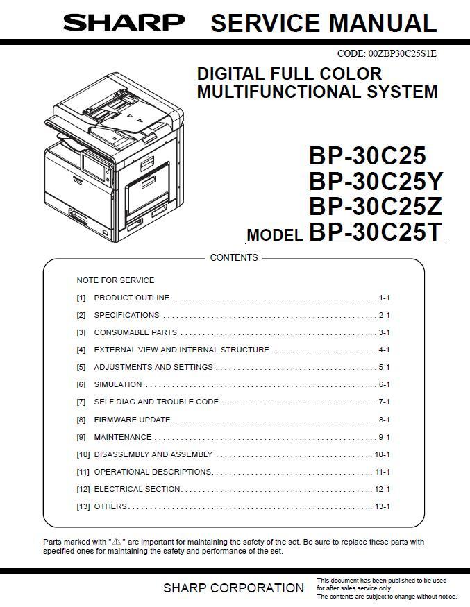 Sharp BP-30C25 Service Manual