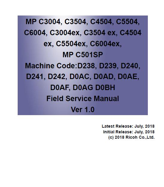 Ricoh MP C501SP Service Manual