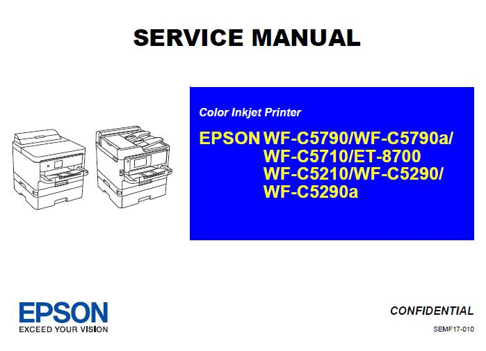 Epson WF-C5790/C5790a/C5710/C5210/C5290/C5290a/ET-8700 Service Manual