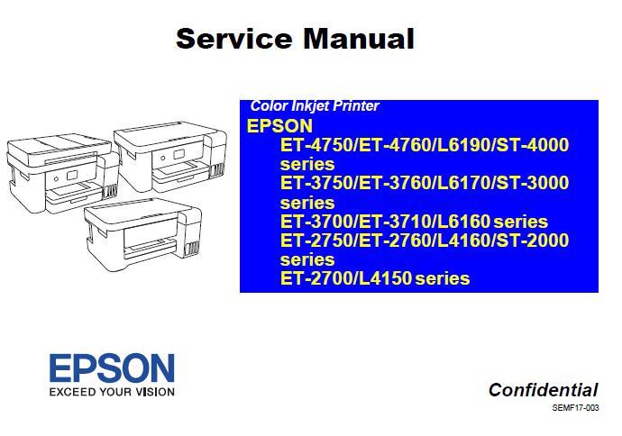 Epson ET-2700-2750-2760-3700-10-50-60-4750-60-L4150-60-6160-70-90-ST-2-3-4000 Service Manual
