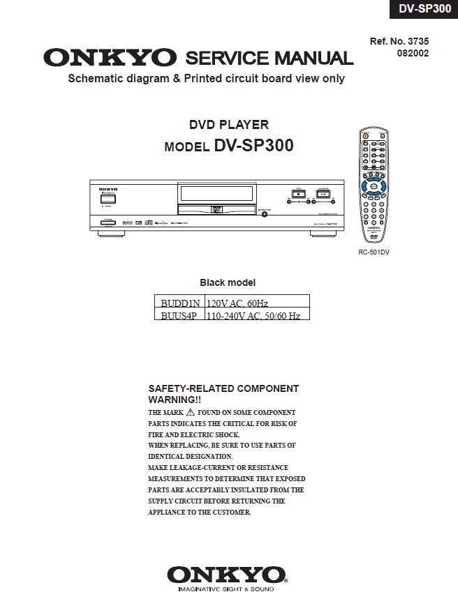 Onkyo DV-SP404 Service Manual