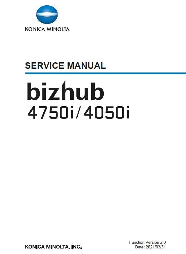 Konica Minolta BIZHUB 4050/BIZHUB 4750i Service Manual