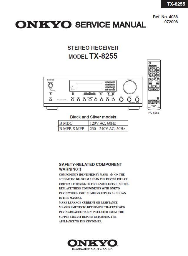 Onkyo TX-8255 Service Manual