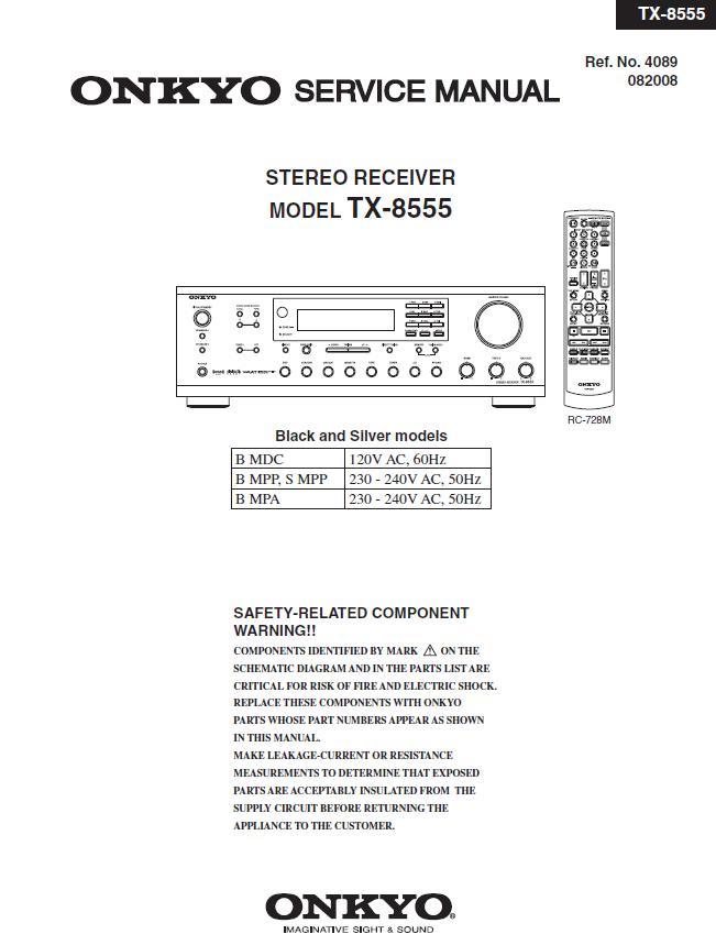 Onkyo TX-8555 Service Manual