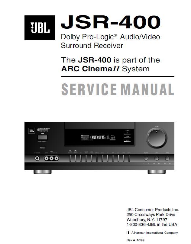 JBL JSR400 Service Manual