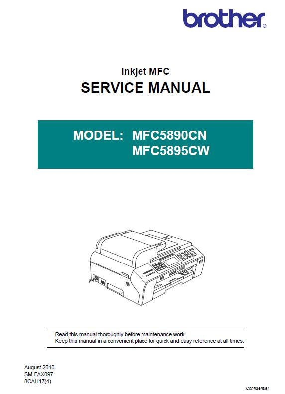 Brother MFC5890CN/MFC5895CW Service Manual