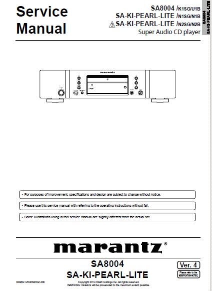 Marantz SA8004 Service Manual