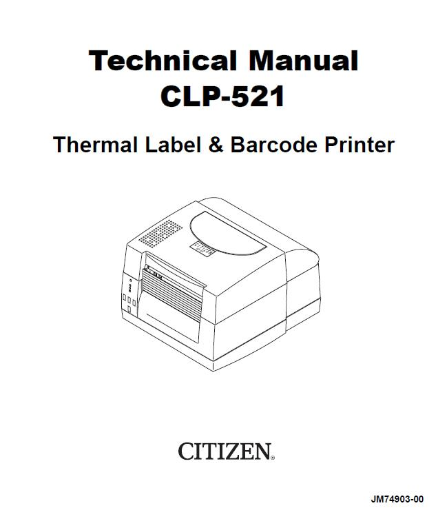 Citizen CLP-521 Service Manual