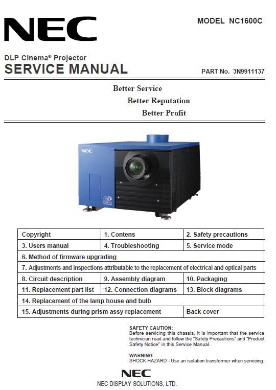 NEC NC1600C Service Manual