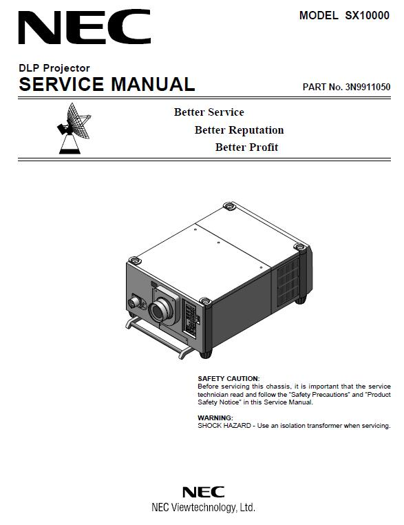 NEC SX10000/SX10000D Service Manual