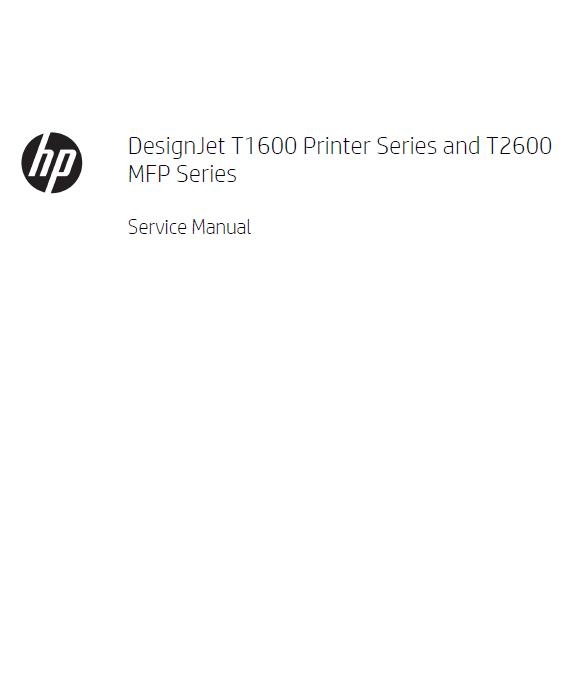 HP DesignJet T1600-T2600 MFP Series Service Manual