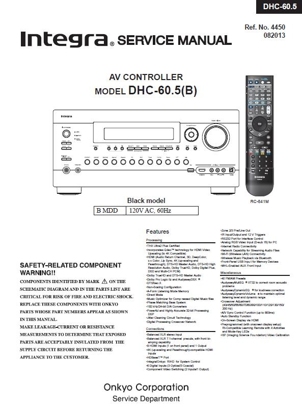 Integra DHC-60.5 Service Manual