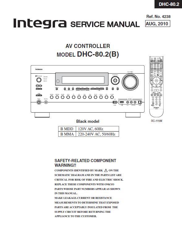 Integra DHC-80.2 Service Manual