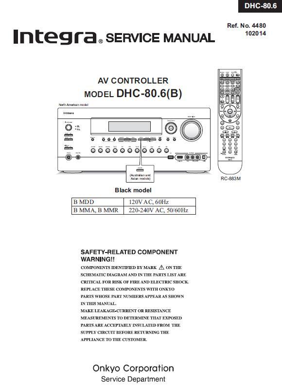 Integra DHC-80.6 Service Manual