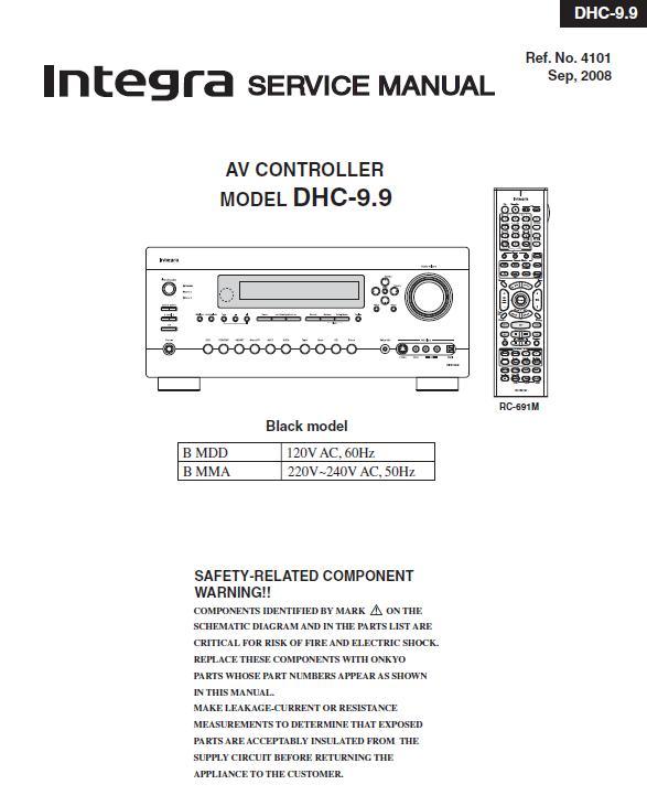 Integra DHC-9.9 Service Manual