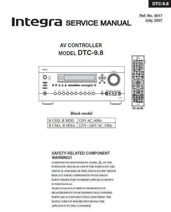 Integra DTC-9.8 Service Manual