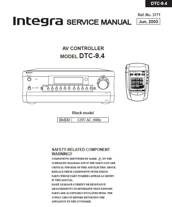 Integra DTC-91.4 Service Manual