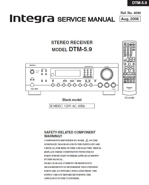 Integra DTM-5.9 Service Manual