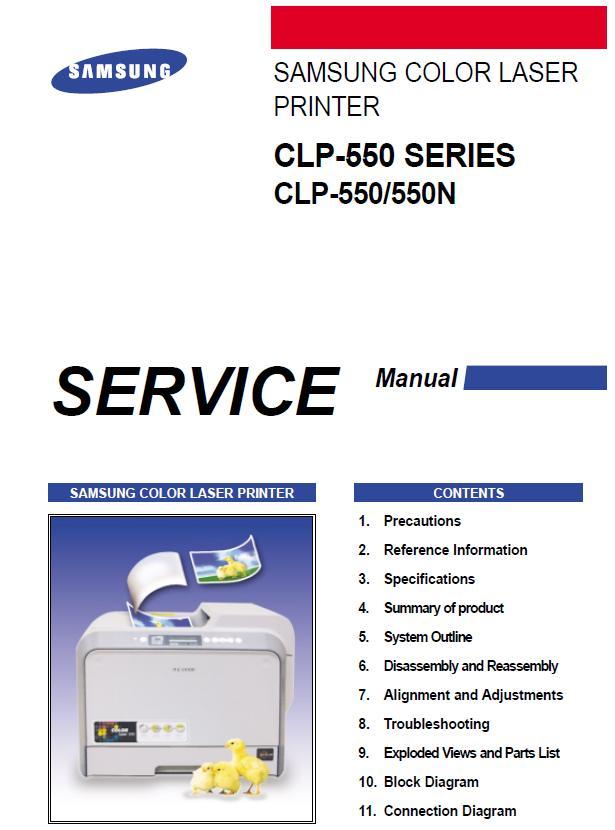 Samsung CLP-550/550N Service Manual