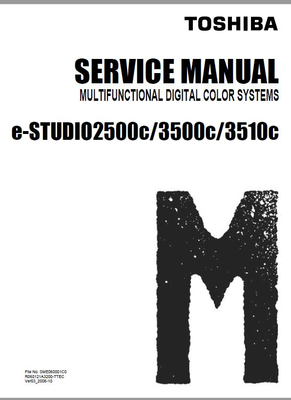 Toshiba e-STUDIO 2500c/e-STUDIO 3500c/e-STUDIO 3510c Service Manual