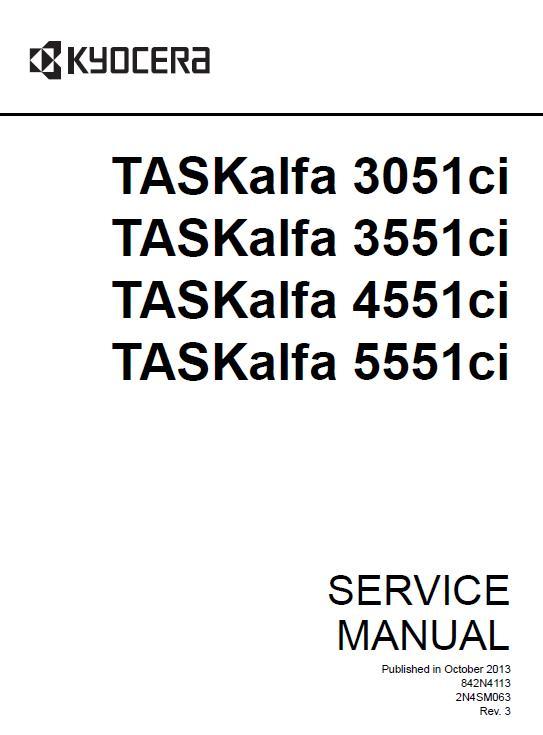 Kyocera TASKalfa 3051ci/TASKalfa 3551ci/TASKalfa 4551ci/TASKalfa 5551ci Service Manual