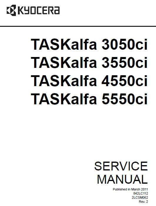 Kyocera TASKalfa 3050ci/TASKalfa 3550ci/TASKalfa 4550ci/TASKalfa 5550ci Service Manual