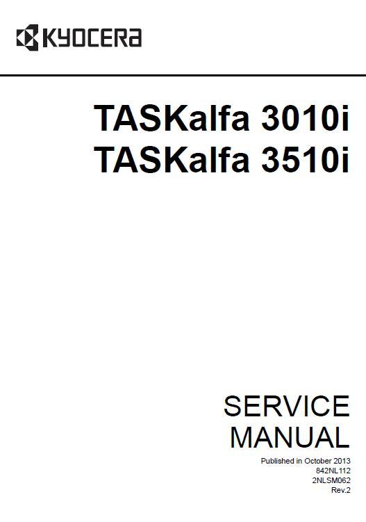 Kyocera TASKalfa 3010i/TASKalfa 3510i Service Manual