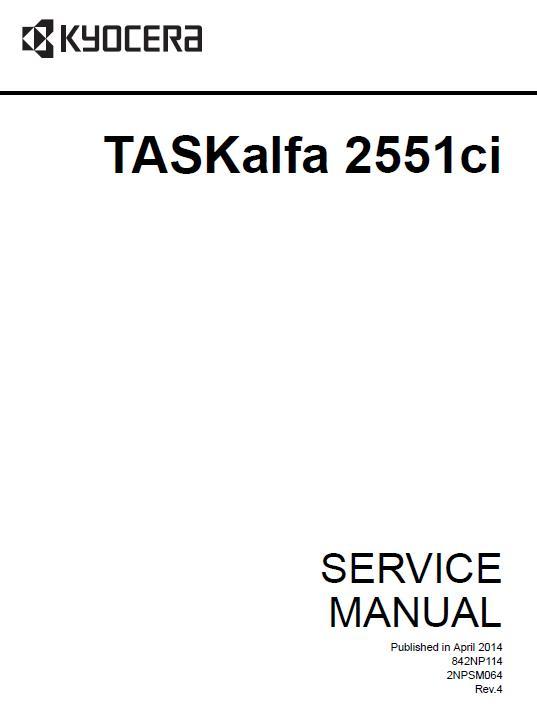 Kyocera TASKalfa 2551ci Service Manual