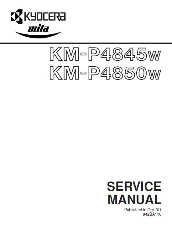 Kyocera KM-P4845w/KM-4850w Service Manual
