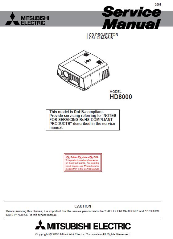 Mitsubishi HD8000 Service Manual