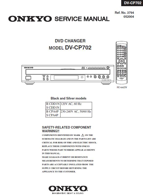 Onkyo DV-CP702 Service Manual