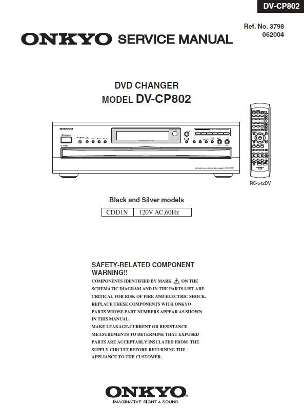 Onkyo DV-CP802 Service Manual