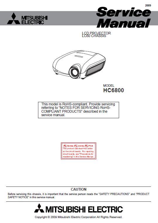 Mitsubishi HC6800 Service Manual