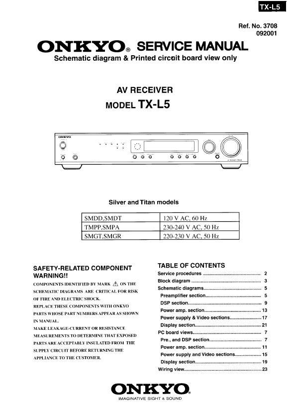Onkyo TX-L5 Service Manual