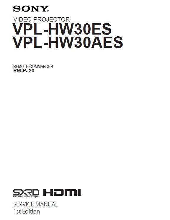 Sony VPL-HW30ES/HW30AES Service Manual