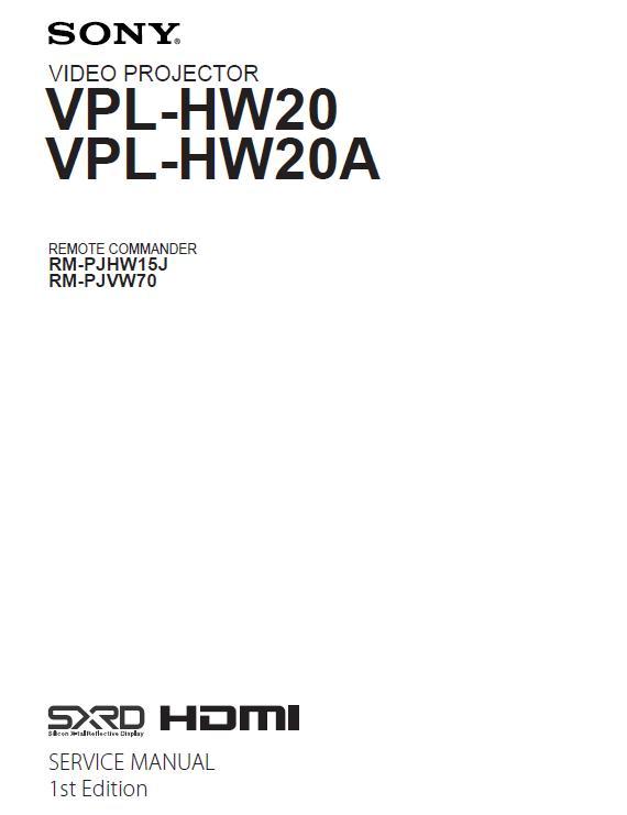 Sony VPL-HW20/HW20A Service Manual