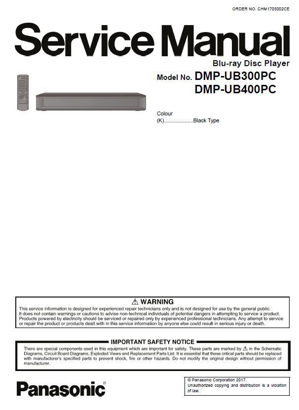 Panasonic DMP-UB300PC/DMP-UB400PC Service Manual