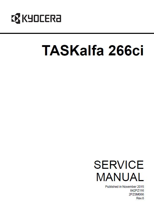 Kyocera TASKalfa 266ci Service Manual