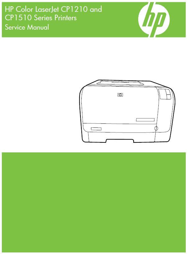 HP Color LaserJet CP1210/HP Color LaserJet CP1510 series Service Manual