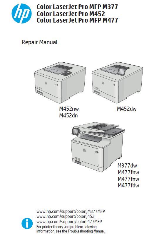 HP Color LaserJet Pro MFP M377/M452/MFP M477 Service Manual