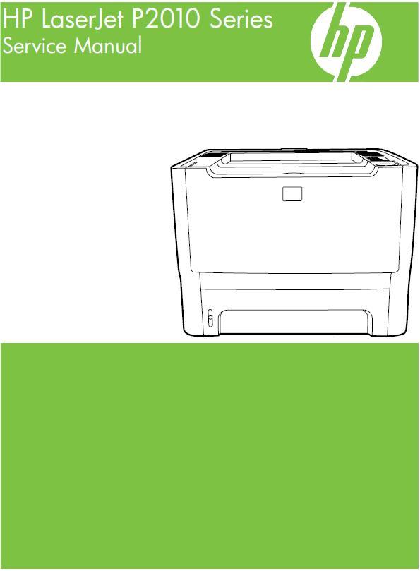HP LaserJet P2010 Series Service Manual