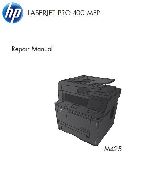 HP LaserJet Pro 400 MFP M425 Service Manual