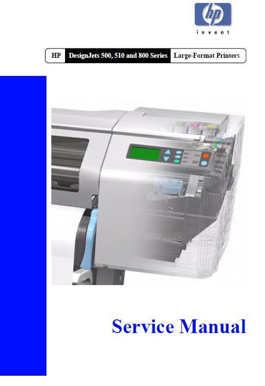 HP DesignJet 500/DesignJet 510/DesignJets 800 series Service Manual